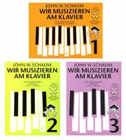 Wir musizieren am Klavier Band 1, 2, oder 3 - Neuauflage - John Wesley Schaum
