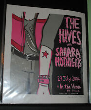 The Hives SLC Salt Lake City 2004 concert poster #/105 Sahara Hotnights Leia Bel