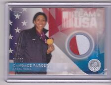 RARE 2016 TOPPS OLYMPIC CANDACE PARKER SILVER RELIC CARD ~ 01/50 ~ WNBA ~ TENN