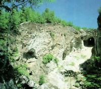 Ruggles Mine Isinglass Mountain Cliffs Woods Mining Grafton NH Vintage Postcard
