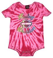 Harley-Davidson Baby Girls' Sugar Glitter B&S Tie-Dye Creeper, Pink 3000739