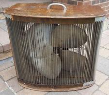 Mathes Cooler #496 Box Fan-4 Metal Blades-Wood Cabinet-Antique Vtg-Multi Speed