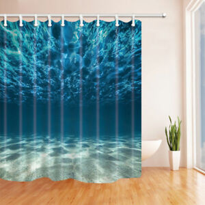 Anti-Mildew Waterproof Fabric & Hook Polyester Shower Curtain Extra Long 84 Inch