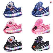 Kids LED Boys Girls Wheels Shoes Skates Heelys Roller Skate Gift UK stock fun