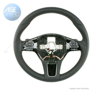 VW Touareg2 Black Leather HEATED Steering Wheel w Tiptronic Gear Paddle Shifters
