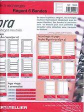 5 Recharges pages simples Régent-Supra 6 Bandes Ref.12926