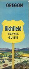 1955 RICHFIELD OIL COMPANY Road Map OREGON Portland Salem Forest Grove Silverton