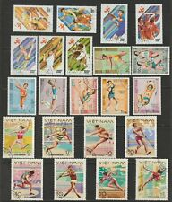 Vietnam Stamps Complete 3 Sets Sports Collection Never Hinged