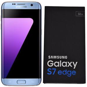 BNIB Samsung Galaxy S7 Edge SM-G935F 32GB Blue Factory Unlocked 4G/LTE Simfree
