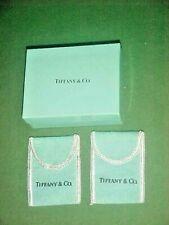 Small Tiffany & Co. Empty Gift Box & 2 Felt Pouches