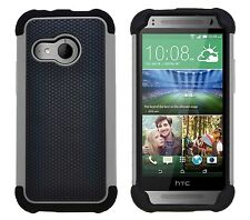 Shock Proof Heavy Duty Tough Armour Hard Case Cover for HTC One Mini 2 (m8 Mini) Grey