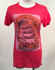 Chaser Women's T-Shirt Sublime Heather Red Size S NEW Ship Pirate Jolly Roger