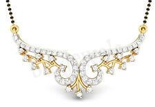 1.20ct ROUND DIAMOND 14k  YELLOW  GOLD WEDDING ANNIVERSARY MANGALSUTRA