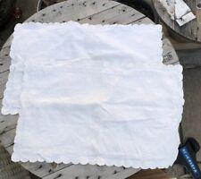 Set Of 2 Portuguese Cotton Lands End Home King Size Pillow Shams Ivory