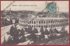 VERONA CITTÀ 206 Cartolina viaggiata 1910 TIMBRO EDITRICE GARIONI PIACENZA