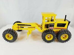 Vintage Yellow Tonka Road Grader Metal Truck Plow Plowing 1980s Outdoor Toy