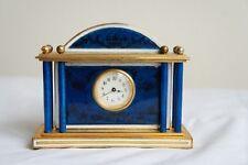 Art Deco French Enamel Miniature Table Clock