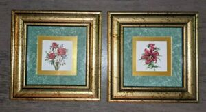 """Framed Flowers Pretty Petal Collectibles """"Romance"""" & """"Lily"""" by Kathy Seek 2 Item"""