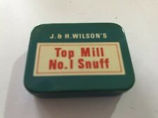 Vintage JH Wilson's Snuff Tin - Top Mill No 1