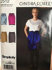 Simplicity Cynthia Rowley skirt sewing pattern Size 4-12 2512 uncut