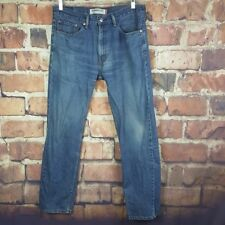 Levi's 505 Straight Fit Jeans Mens Size 34X32 Medium Wash Actual 36X31