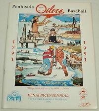 PENINSULA OILERS ALASKA 1991 BASEBALL PROGRAM