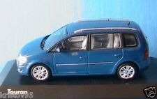 VW VOLKSWAGEN TOURAN 2007 BLUE METALLIC MINICHAMPS 1/43 BLAU BLEU METAL
