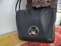 Elliott Lucca Black Leather Shoulder Bag Crossbody