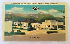 1930's Murphy's Terrace Lodge Pikes Peak AAA Linen Postcard - Colorado  +