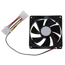 DC 12V 4 Pin Black Plastic PC Cooling Fan 90mm x 90mm x 25mm F5K2