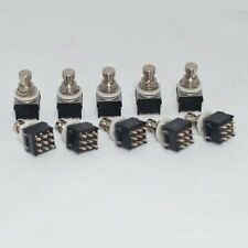 10x 3PDT9-PIN Guitar Effects Stomp Foot Switch Foot Metal True Bypass Black