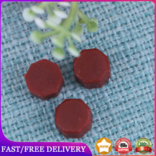100pcs Octagon Wax Paint Sealing Vintage Stamp Dedicated Beeswax(Brown Red)