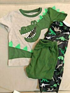 Carters SW sleep wear, boys, 3 pc set, Dinosaurs,  mult. sizes, NWT, 23