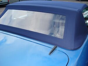 TVR Tasmin - Green - Mohair Hood With Plastic Window