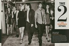 Chace Crawford, Jessica Szohr, Gossip Girl 6pg + cover EW feature, clippings