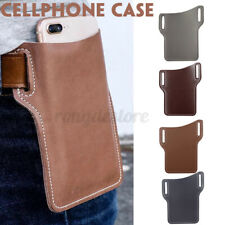 Men Cell Phone Belt Pack Bag Loop Waist Holster Pouch Case​ Genuine Leather ​G