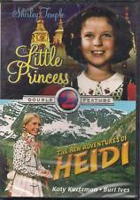 Double Feature Dvd: Little Princess/ The New Adventures of Heidi-Brand New Od443