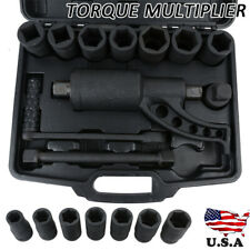 New Torque Multiplier Set Wrench Lug Nut Lugnuts Remover Labor Saving Heavy Duty
