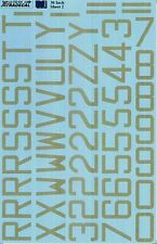 "Xtradecal 1/32 RAF Code Letters and Numbers 30"" Sky # 32024"