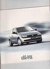 2001 HOLDEN XC BARINA Australian 20p Brochure Like OPEL CORSA
