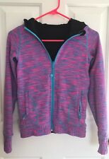 Ivivva Lululemon Athletica Space Dye Pink Turquoise Black 10 Hoodie Thick Thumb