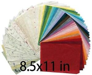 MulberryPaperStock 65 Hand Made Tissue Mulberry Paper Sheets Natural Fiber 8.5