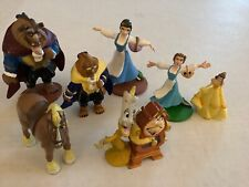 Disney Beauty And The Beast PVC Classic Figure Cake Topper Lot of 7