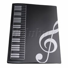 Black Plastic Music Sheet File Folder Documents Holder A4 Size 40 Pocket