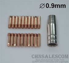 21 PCS MB-15AK MIG/MAG Welding Torch Contact Tip 0.9mm Gas Nozzle 145.0075