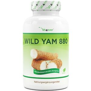 Wild Yam 240 Kapseln 440mg 20% Diosgenin Wechseljahre Yamswurzel 100% Extrakt