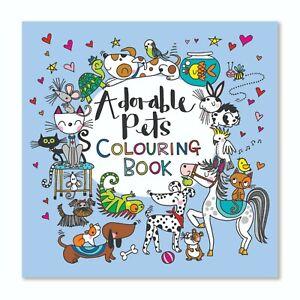 Adorable Pets Children's Colouring Book by Rachel Ellen Girl Gift Present Fun