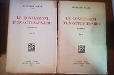 Le confessioni d'un Ottuagenario Vol.I-II - Ippolito Nievo -Barion - 1932- M