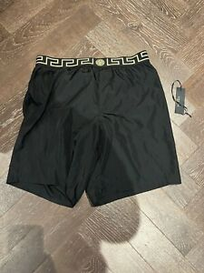 Men's Versace Swimming Shorts Black Size Versace 7 XXL IT 54
