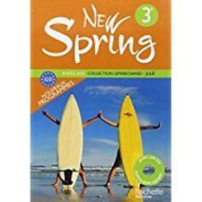 """MP004 HACHETTE """"New Spring"""" Manuel avec CD 3e (Nouveau programmes A2B1)"""